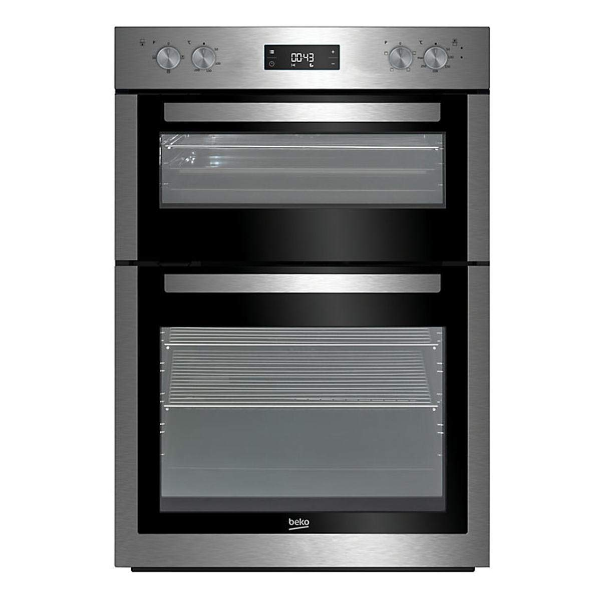 Beko BDF26300X Fanned Electric Built-in Double Oven Stainless Steel