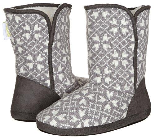 Capelli New York Damene Multi Strikke Snøfnugg Boot Grå Combo Medium