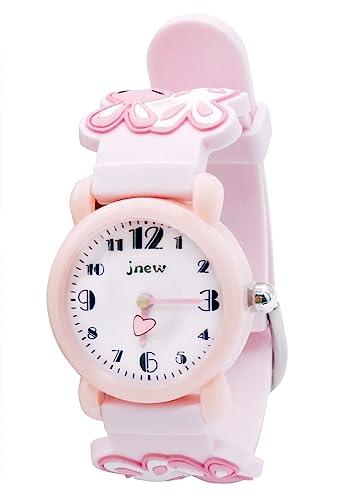 JNEW - Cute Watch Watchband for Girls Reloj para Niñas Dibujo Divertido 3D Estilo Dulce Lindo