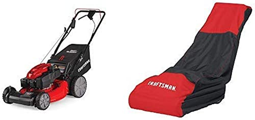 Craftsman M275 159cc 21-Inch 3-in-1 High-Wheeled Self-Propelled FWD Gas Powered Lawn Mower with Bagger and Lawn Mower Cover