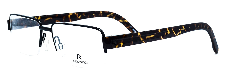 Eyeglasses Rodenstock R2186 A Brown semi rimless frame Size 55 16 145