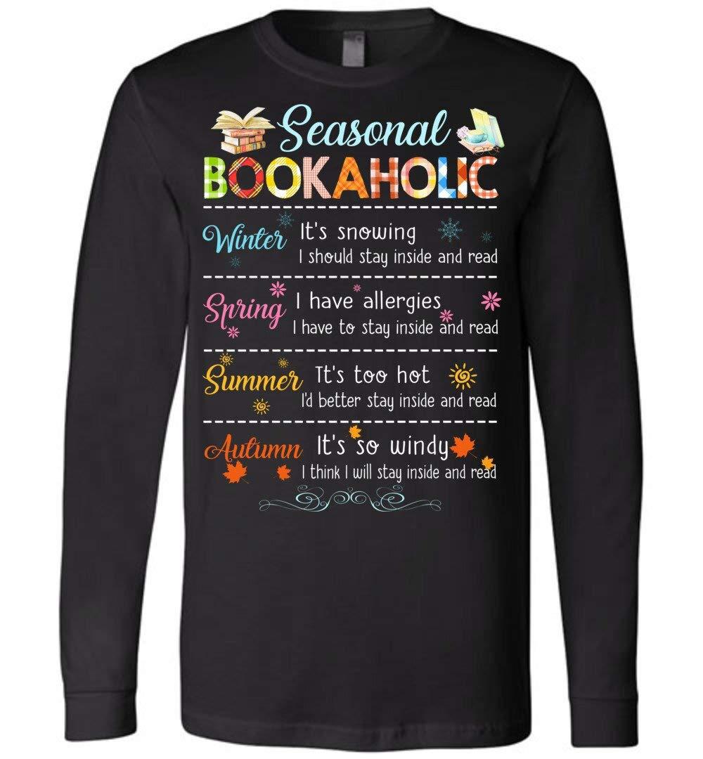 Cute Seasonal Bookaholic Bool Lover Gift Canvas Unisex T Shirt For 6620