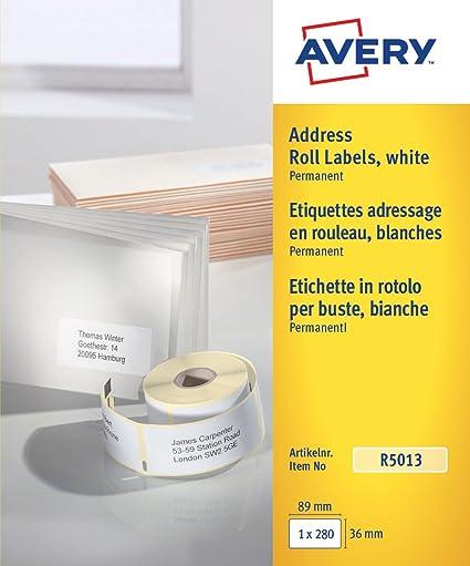Avery R5013 etiqueta de impresora Blanco Etiqueta para impresora ...