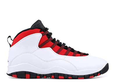 innovative design fa84c 3b547 Nike Jordan Men s Air Jordan 10 Retro Basketball Shoes (9.5, White Black)