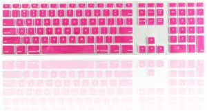 TOP CASE Silicone Soft Keyboard Cover Skin with a Numeric keypad MB110LL/B Compatible with Apple iMac -Pink
