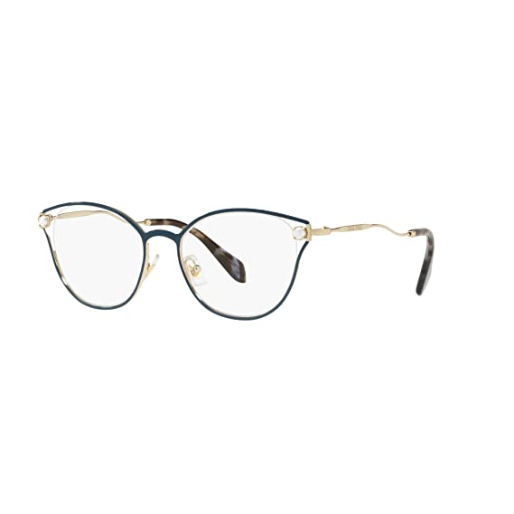 e001581875a Miu Miu PEARL VMU53Q BLUE women Eyewear Frames  Amazon.co.uk  Clothing
