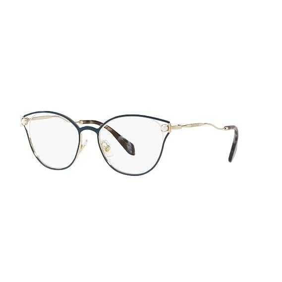 fe7dae177bc Miu Miu PEARL VMU53Q BLUE women Eyewear Frames  Amazon.co.uk  Clothing