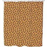 Uneekee Leopard Spots Shower Curtain: Large Waterproof Luxurious Bathroom Design Woven Fabric