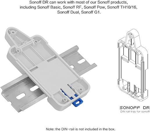 Sonoff Smart Interrupteur Wifi Rail DIN Plateau de montage domotique on//off t/él/écommande universel