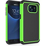 """Galaxy S7 Case, SYONER [Shockproof] Defender Protective Phone Case Cover for Samsung Galaxy S7 (5.1"""", 2016) [Green]"""