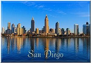 San Diego Skyline Magnet 2x3 Inches