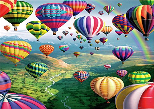 DIY 5D Diamond Painting Kit, Full Drill Rhinestone Embroidery Cross Stitch Hot Air Balloon Arts Craft for Canvas Wall Decor