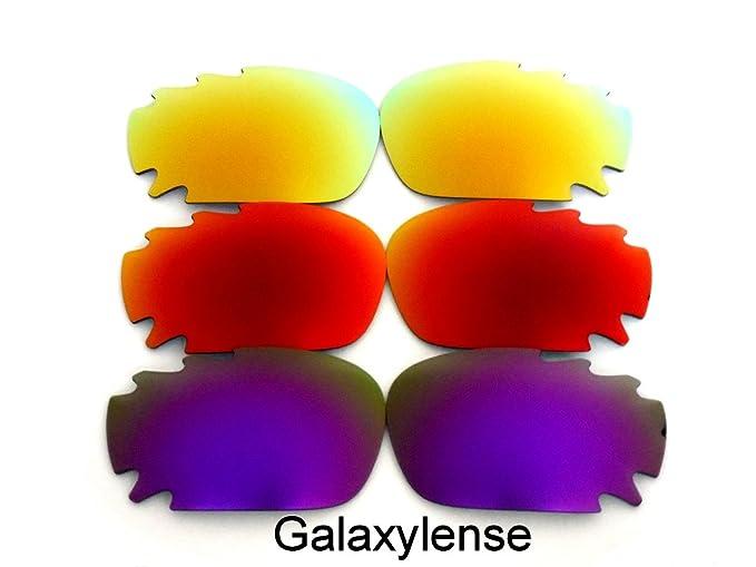 Galaxy lentes de repuesto para Oakley Racing Jacket Morado&Rojo&Dorado Polarizados ...
