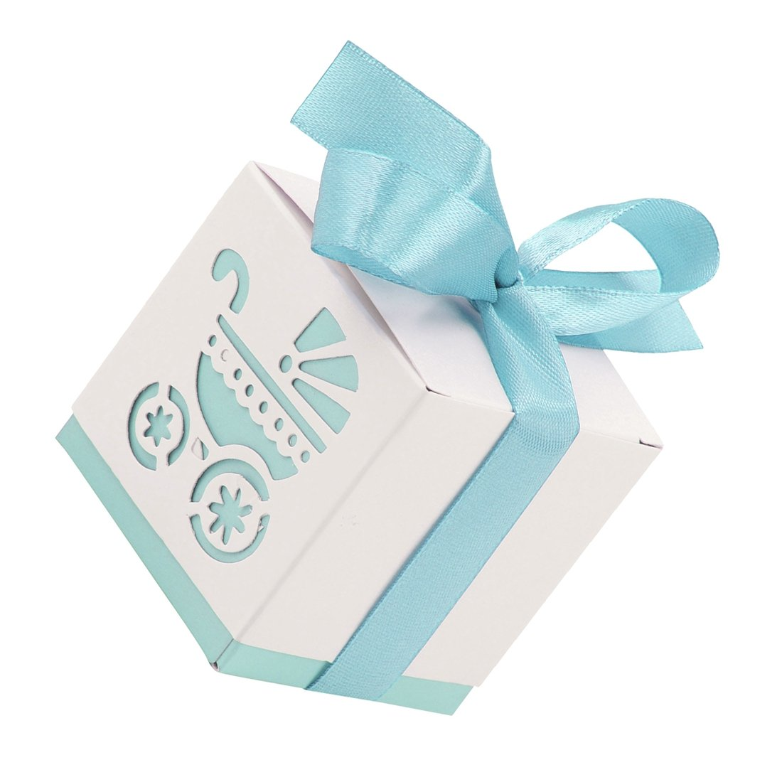 Amazon.com: Yalulu 50Pcs Carriage Pattern Candy Boxes Gift Bags Baby ...