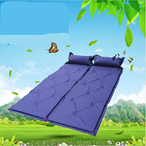 wanbao Puede Coser Azul Doble Doble Inflable Almohadilla ...