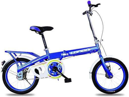 XQ 1619URE Bicicleta Plegable para niños 16 Pulgadas para Adultos ...