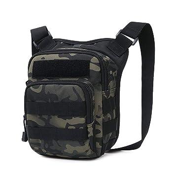 Huntvp Táctical Bandolera Militar Bolso de Hombro Impermeable Molle Bolsas Portátiles Sling Bag Messengerbag para Hombre Mujer Outdoor Cruzada ...