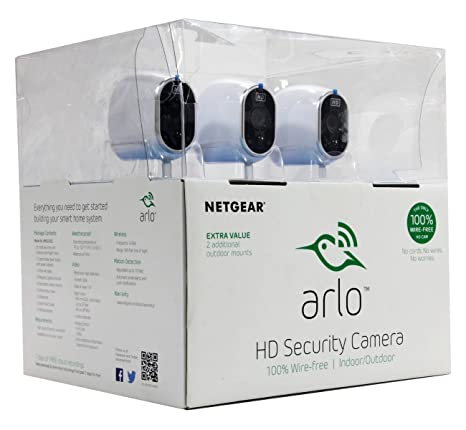 netgear arlo smart home security system w 3 hd wire free cameras \u0026 night vision Central Vac Systems