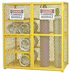 Durham Steel/Iron Combination Horizontal/Vertical Cylinder Storage Cabinet, EGCC8-9-50,  17 Cylinder Capacity,  30\