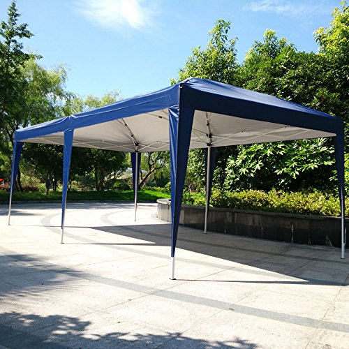 Z ZTDM 10' x 20' Blue Easy POP up Wedding Event Party Tent Folding Gazebos Beach Canopy Screen Sun Shelters Houses with Carrying (10' X 20' Shelter)