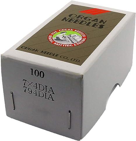 ORGAN BRAND NEEDLES FOR SEWING MACHINES WHITE DIAMOND 7 X 4 SIZE 24 TEN NEEDLES