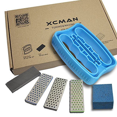 XCMAN Alpine Freeride Snowboard Ski Edge Bevel Tuning Kit Edge Care Kit -Side Ski Angle Tool +3 Diamonds +Gummi Stone