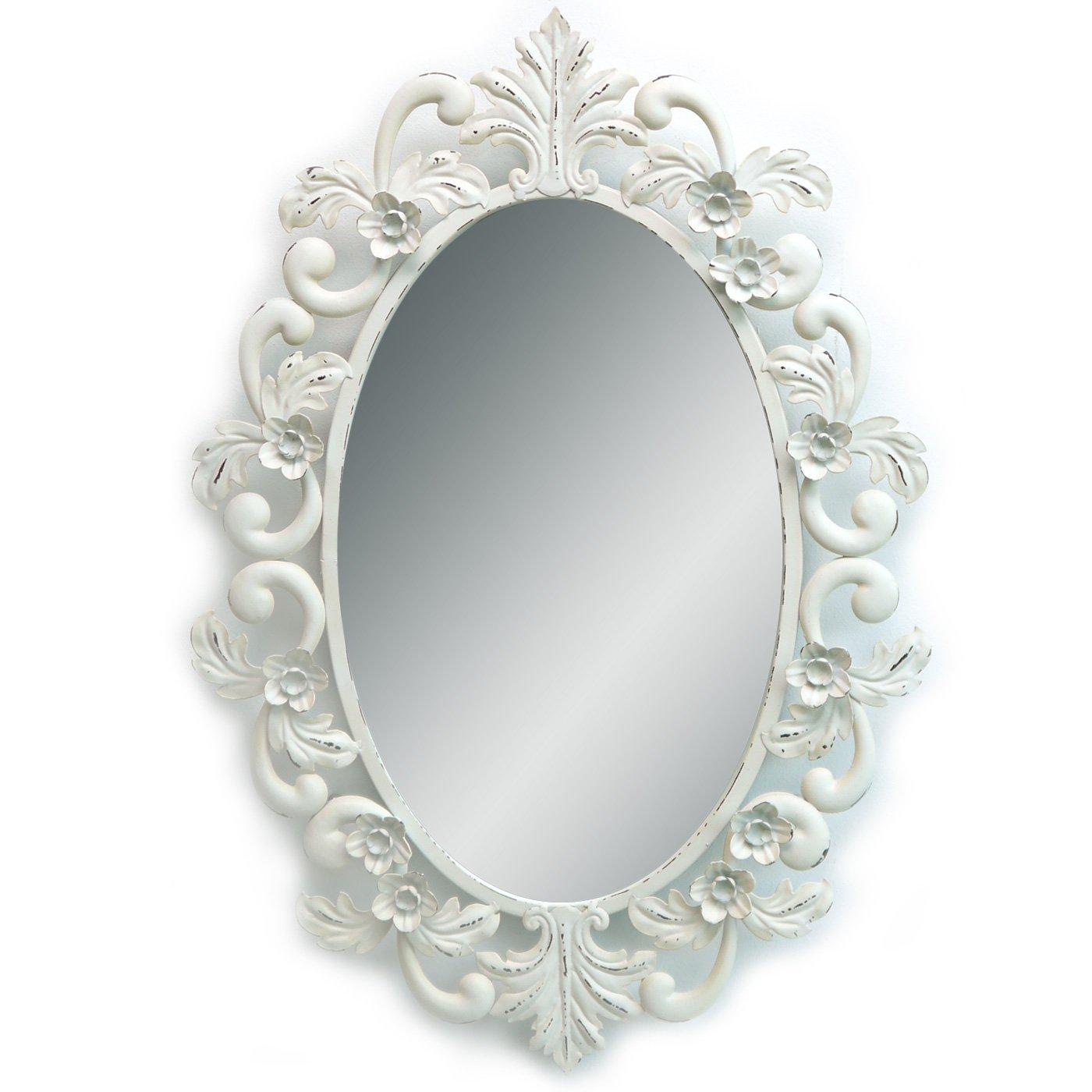 Wandspiegel FLOWER | Spiegel oval | mit Blüten und Ornamenten aus ...