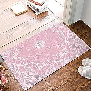 Segard Welcome Decorative Door Mats Indoor Bath Rugs Indian Floral Mandala Motif Non-slip Entrance Doormat for Home Decor