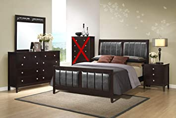 Amazon.com: GTU Furniture Contemporary Styling Rosa 4Pc King ...