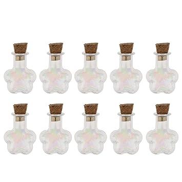Baoblaze 10 Piezas de Botella de Corcho Suministros de Deportes de Joyería para Decoracion de Jardín