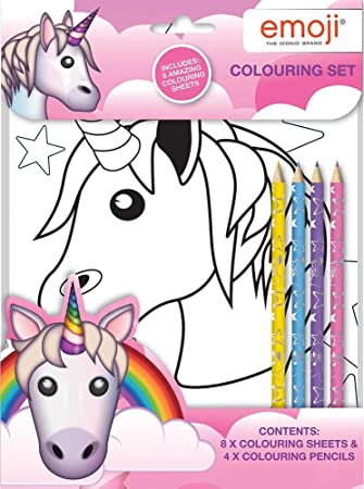 Disney Emoji Unicorn Set Ausmalen Eucst Amazon De Spielzeug