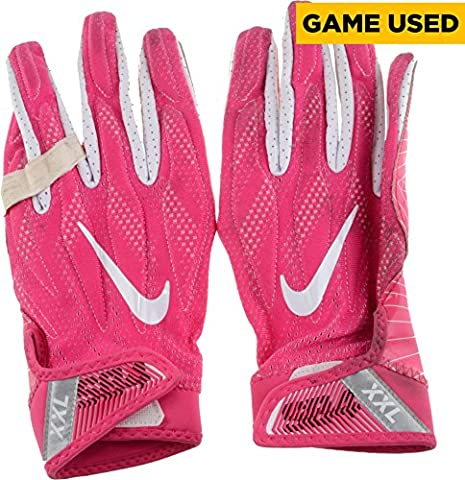Vinny Curry Philadelphia Eagles Game-Used Breast Cancer Awareness Pink Nike Gloves Used vs. Minnesota Vikings On October 23, 2016 - Fanatics Authentic (Minnesota Vikings Gloves Nike)