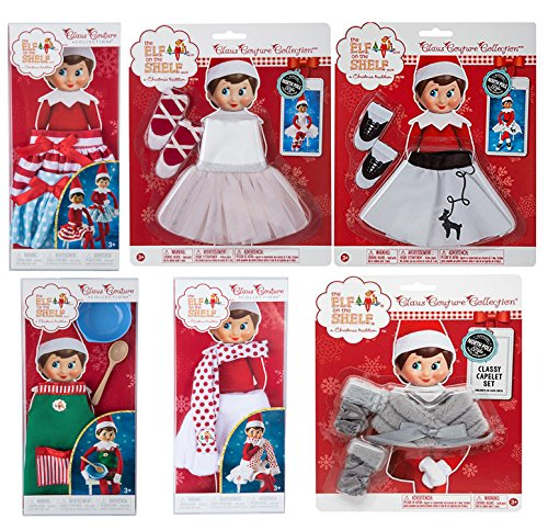 SUPER BIG! Elf on the shelf Bundle- 6 Girl Outfits Total! Classy Caplet Set,