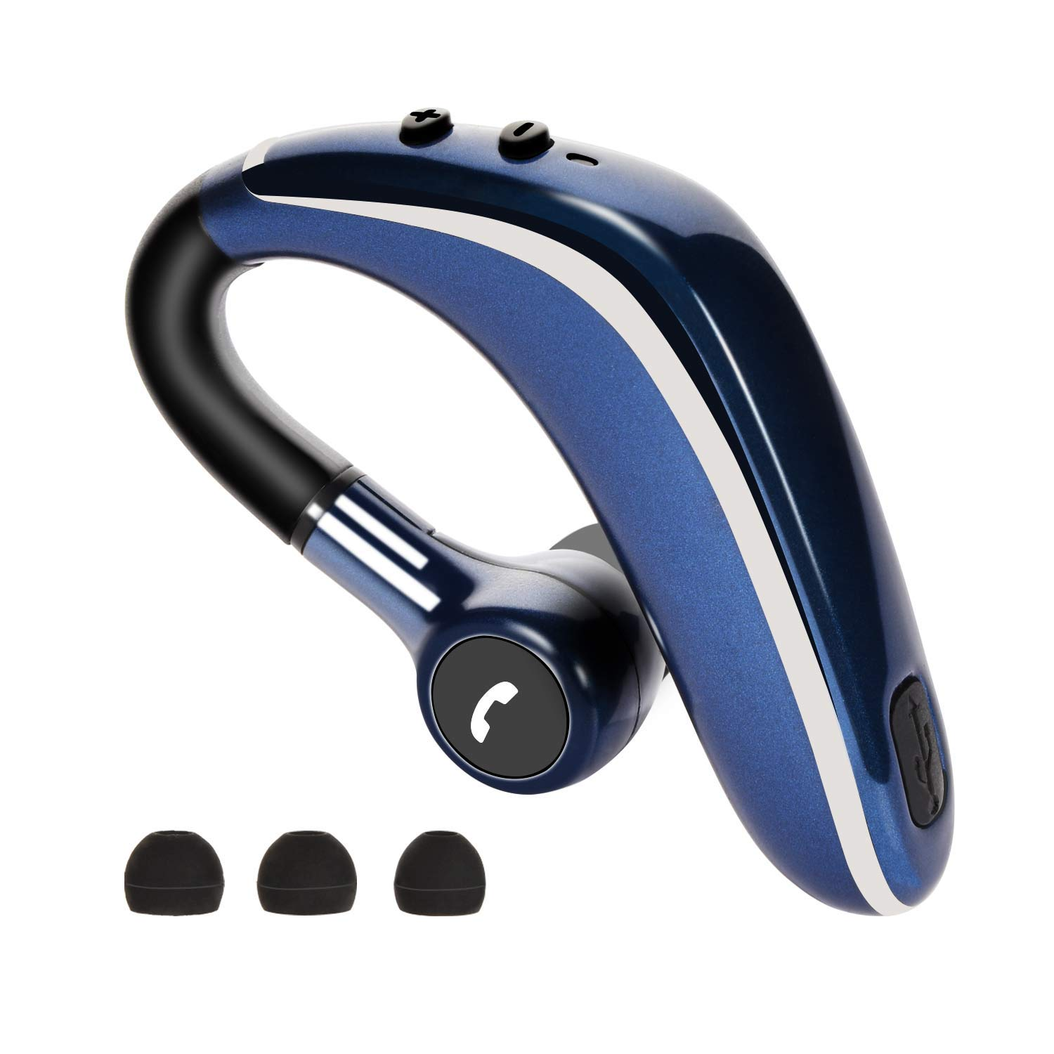 Bluetooth Headset, Ultralight Wireless Bluetooth Earpiece V5.0 Hands Free Noise Cancelling Earphone with Mic for Business/Office/Driving(0.5-0.8 Hours Charging)