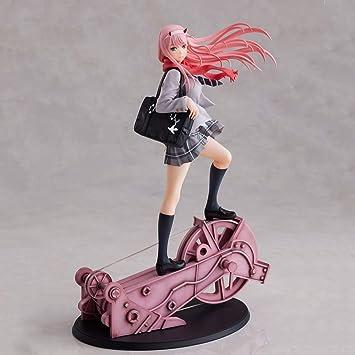 Anime DARLING in the FRANXX Zero Two 02 Figur Statue Spielzeug Weiße Kleidung
