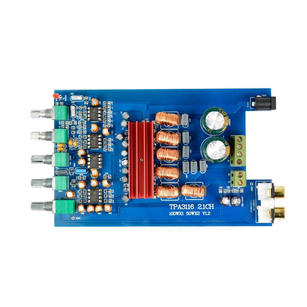 AOSHIKE TPA3116D2 Audio Amplifiers Board Amplificador 2.1 Digital Amplifier Board 50Wx2+100W DIY For Home Theater by AOSHIKE