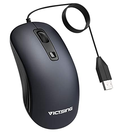 USB Wired Optical Mouse Clear Right Left Handed Computer Laptop PC