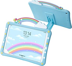 Exquisite Rainbow Bridge Case for 7.9inch iPad Mini 5th Gen 2019 ,Soft Shockproof Silicone Back Cover with Built-in Bracket,Food-Grade Silica Gel,Especially for Children