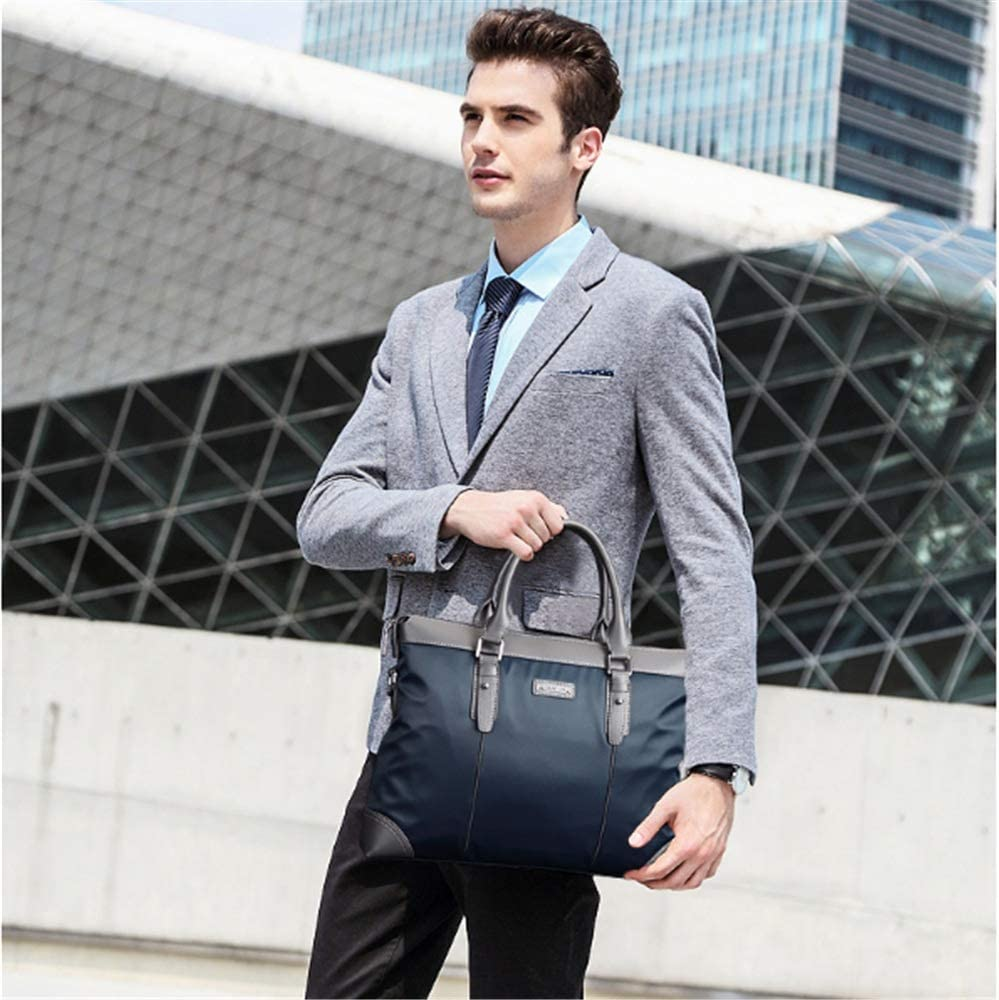 College School Crystalzhong-MB Men Briefcase Mens Laptop Messenger Bag Lawyers Briefcase Business Slim Shoulder Cross-BOD Bags for Business Work