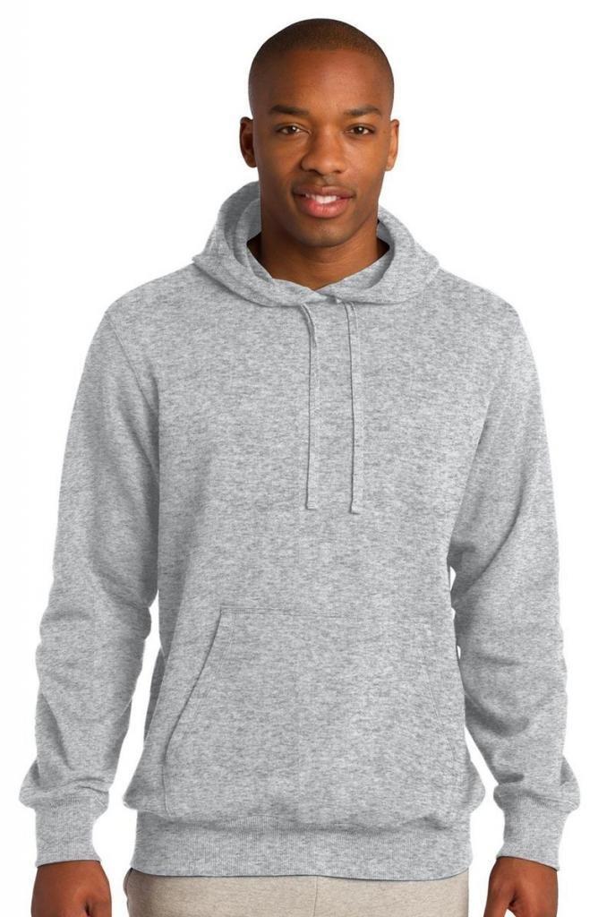 Sport-Tek Men's Pullover Hooded Sweatshirt M Athletic Heather by Sport-Tek