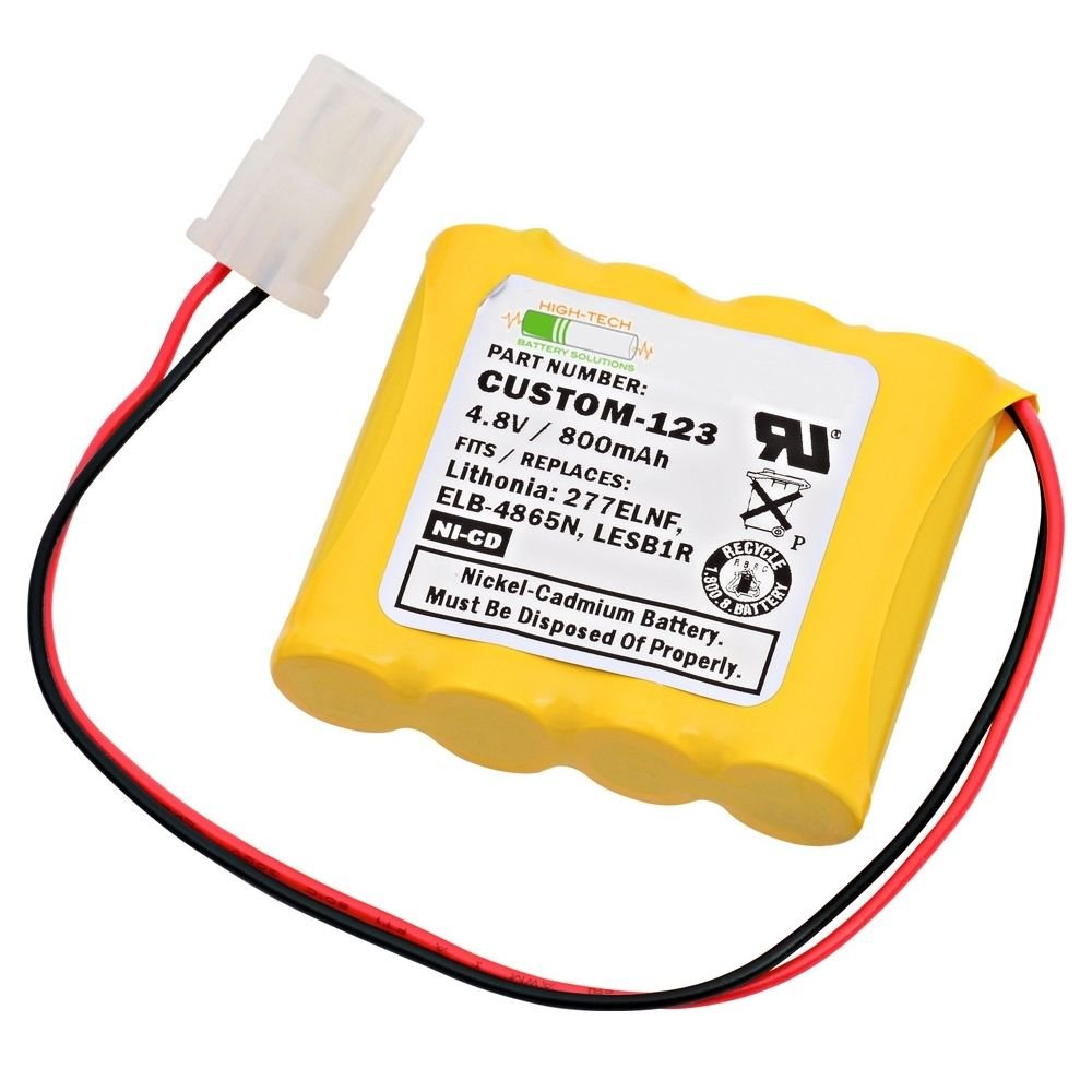 Replacement Emergency Light Battery For Lithonia ELB-4865N and more