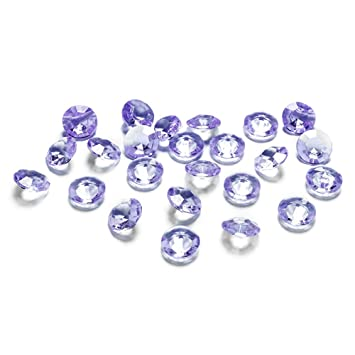 100 Diamanten hell - lila - flieder 12mm Tischdekoration ...