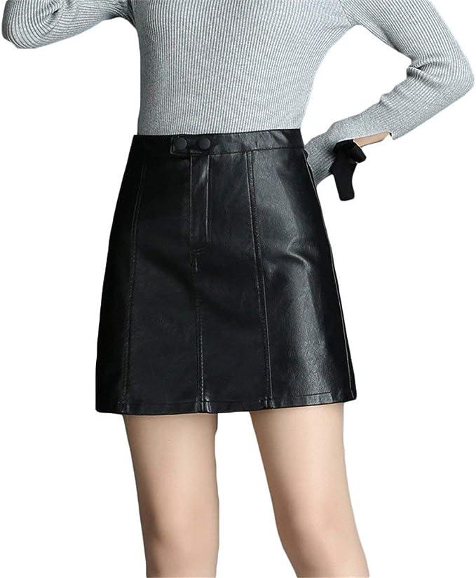 Falda Señoras Falda Placa Corta Negra Faldas De Hermosas Falda ...