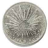 1894 MX Mexican Silver 8 Reales w%2F Cap