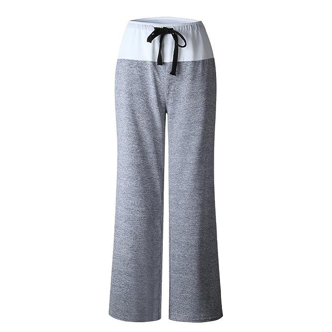 Amazon.com: Dewapparel Womens Wide Leg Pants High Waisted ...