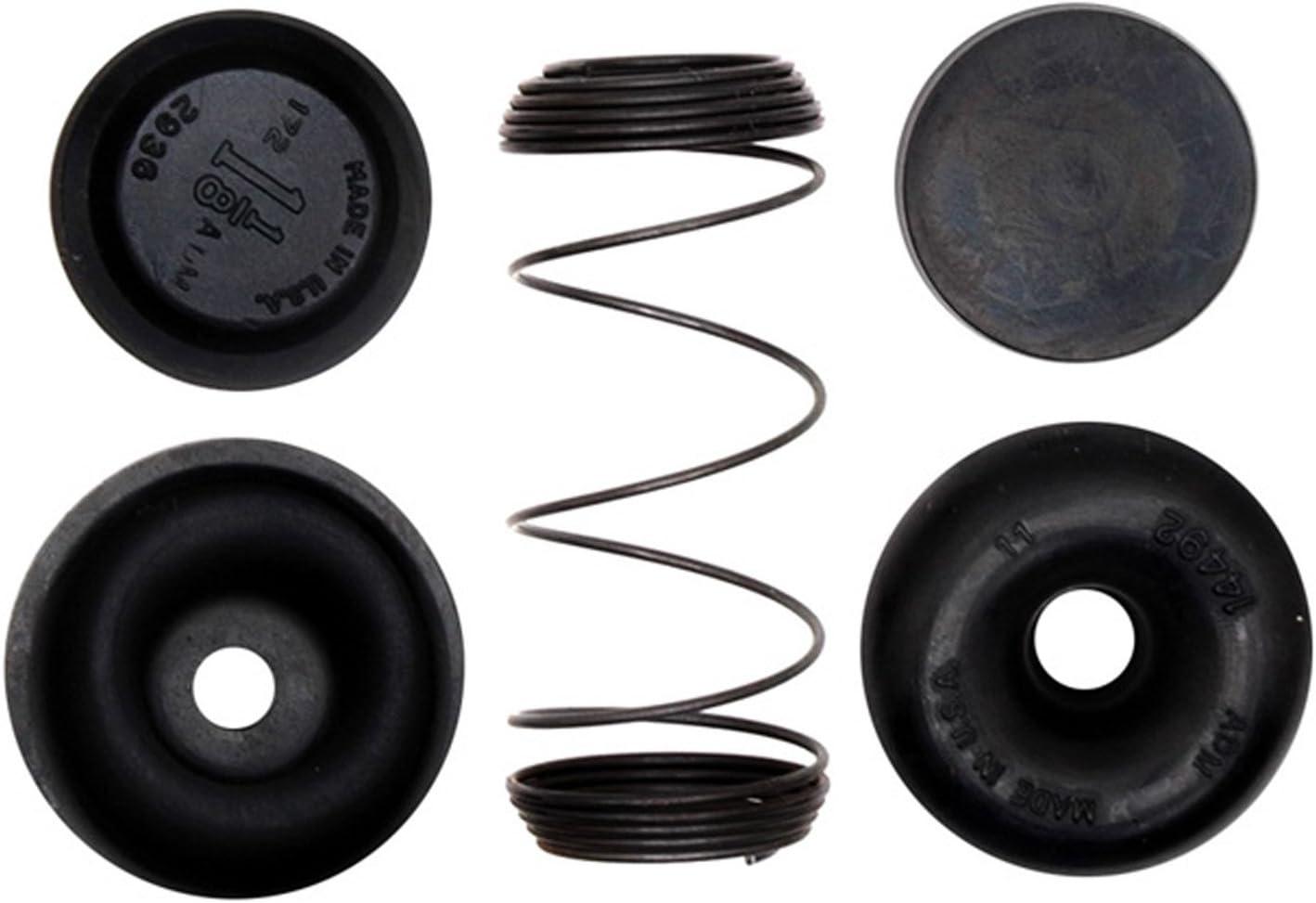 Kit de reparación de cilindro de freno de tambor trasero profesional con resorte, zapatos y tapas ACDelco 18G5