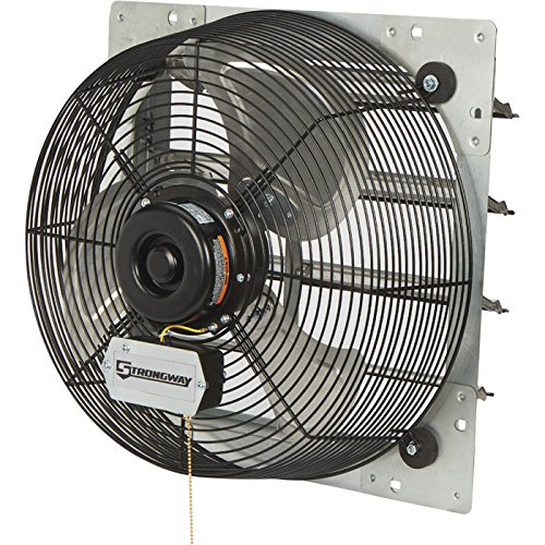 Strongway Totally Enclosed Direct Drive Shutter Exhaust Fan - 16in., 3-Speed, 2100/1910/1790 CFM
