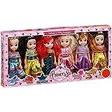 La colección de muñecas Pretty Princess Set de 6 muñecas princesas de Disney