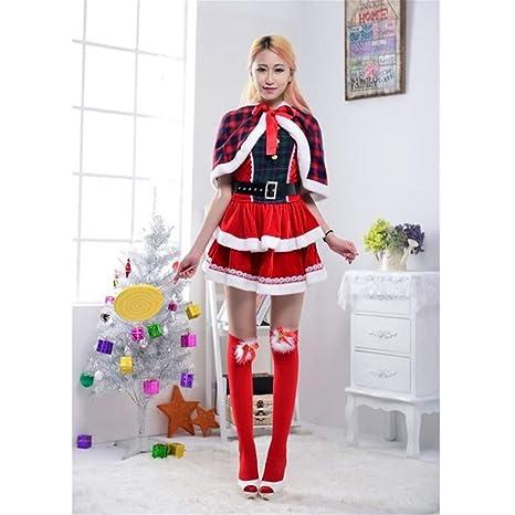 Yunfeng Disfraces de Papá Noel para Mujer Navidad Disfraz ...