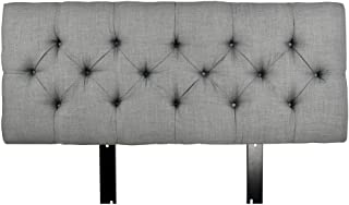 product image for MJL Furniture Designs Jackie Collection Padded and Diamond Tufted Upholstered Solid Wood Full Size Headboard, HJM100 Series, Dark Gray